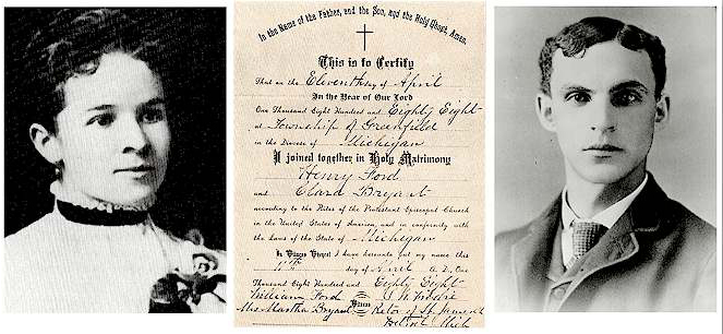 11 avril 1888 – Mariage d'Henry Ford