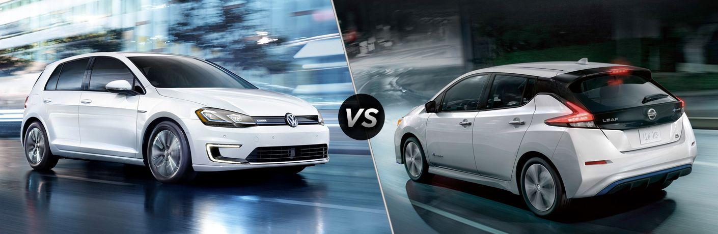 Nissan Leaf 2019 vs Volkswagen e-golf 2019