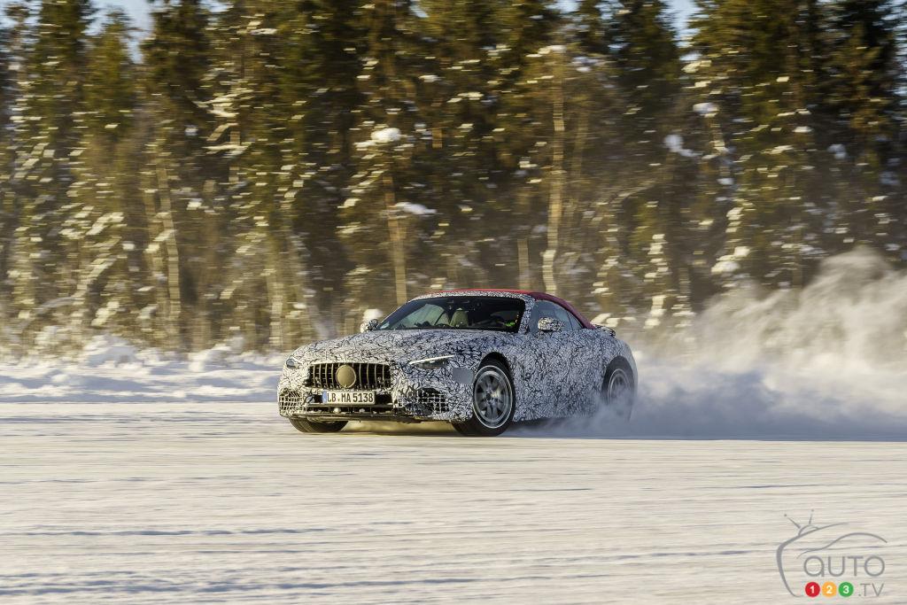 Quatre roues motrices pour l'avenir de la Mercedes SL