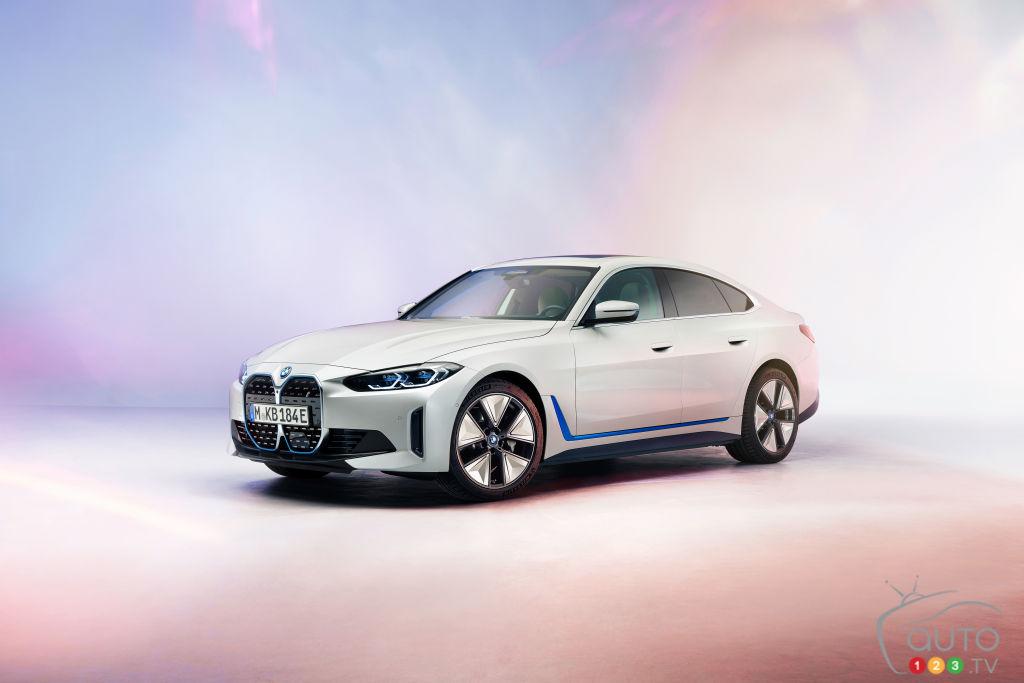 Une première sortie publique pour la version de production de la BMW i4